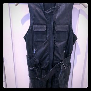 Theory leather vest